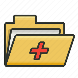 folder, medical, medical folder, patient record, patient report icon