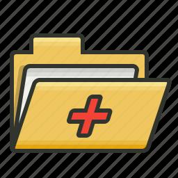 folder, medical folder, patient record, patient report icon