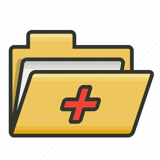 folder, medical folder, patient record, patient report icon