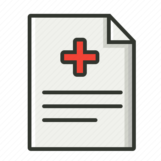 medical file, medical record, medical report, patient report icon