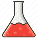 chemical, conical flask, exam, experiment, laboratory, medical, test icon