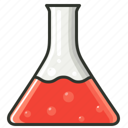 chemical, conical flask, experiment, laboratory icon