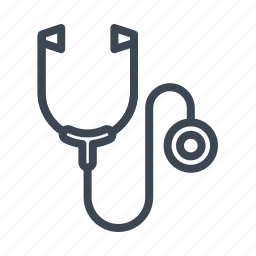 beat, doctor, heart, medical, stetoscope, tool icon