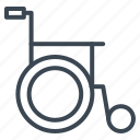 impairment, medical, physical, wheel chair icon