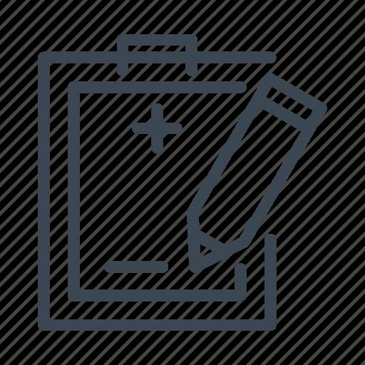 agreement, medical, note, prescription, signature icon