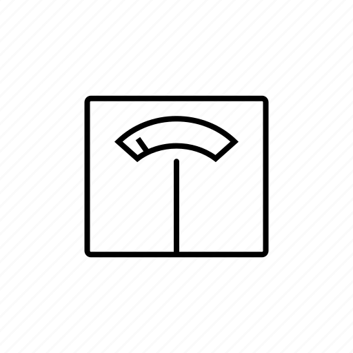 healthy, line, medical, outline, scales icon
