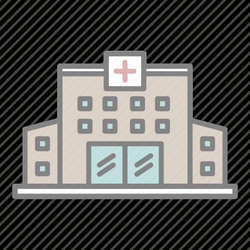doctor, emergency, flat icon, health, hospital, hospital building, medical icon