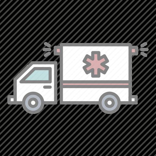 ambulance, doctor, emergency, health, hospital, injury, medical icon