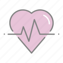 doctor, emergency, health, heart, heart rate, hospital, medical icon