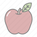 apple, doctor, fruit, health, hospital, medical, well being icon