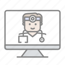 doctor, emergency, health, hospital, medical, online medical, pcp icon