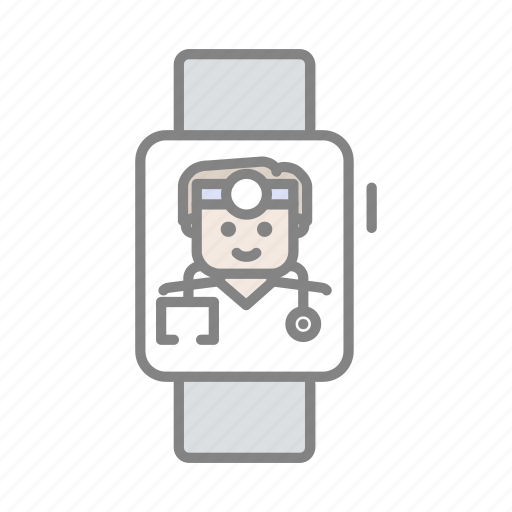 apple watch health, doctor, emergency, health, hospital, medical, online health icon