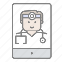 doctor, emergency, health, hospital, medical, medical ipad, online medical icon