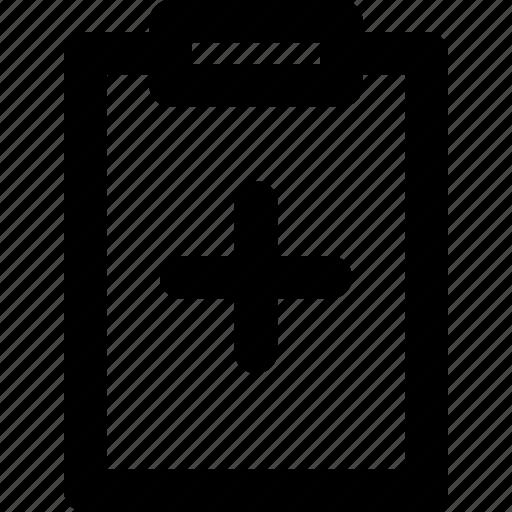 clipboard, hospital, medical, outline, task icon