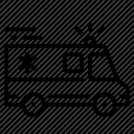 ambulance, car, transport, van icon