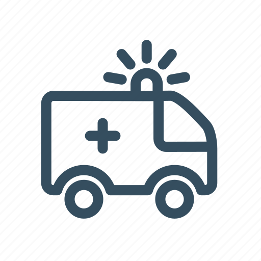 ambulance, help, immanency, medical, truck, van icon