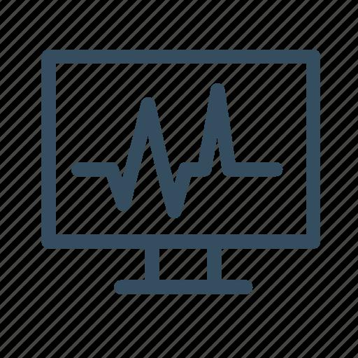 diagnostic, graph, medical, monitor icon