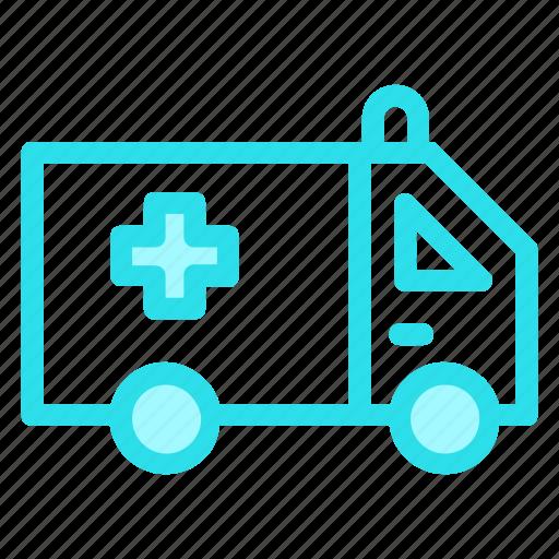 ambulance, auto, medical, vehicle icon
