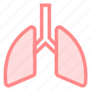 body, respiratory, lung, organ icon