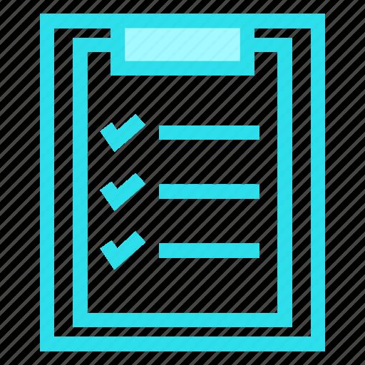 checklist, clipboard, document, survey icon