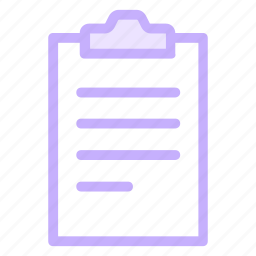 clipboard, document, page, report icon