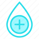 aqua, blood, drop, water icon