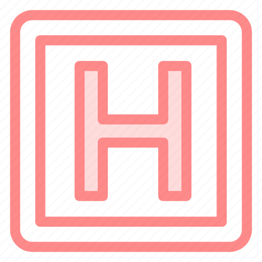 emergency, helicopter, helipad, landing icon