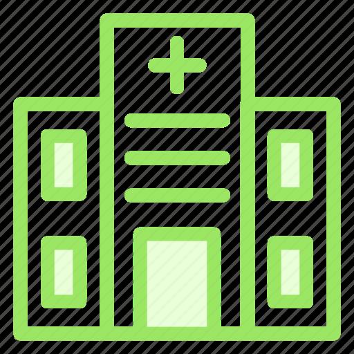 building, clinic, estate, hospital icon