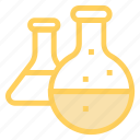 beaker, chemistry, flask, lab