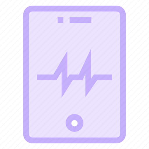 device, mobile, phone, pulses icon