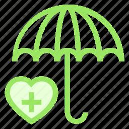 care, protection, secure, umbrella icon