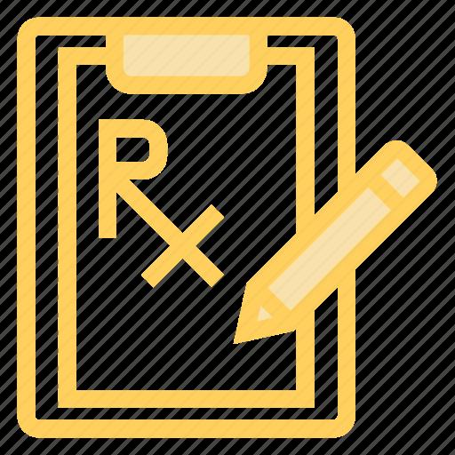 clipboard, document, pencil, report icon