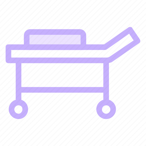 bed, emergency, stretcher, trolley icon