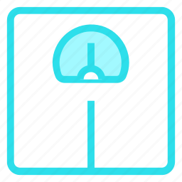fitness, meter, scale, weight icon