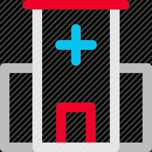 building, healthcare, hospital, medical icon icon