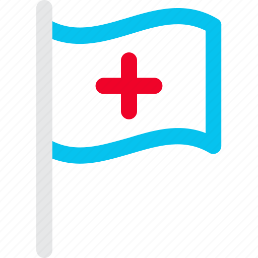 assistance, flag, medical icon icon