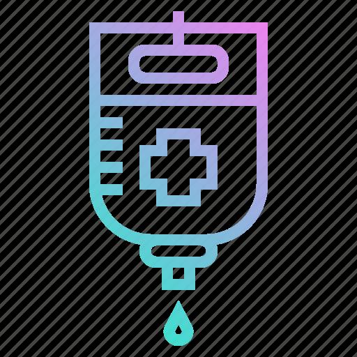 health, patient, saline, transfusion icon