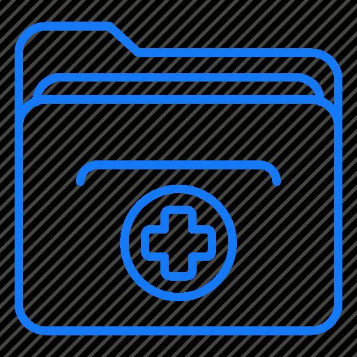 directory, file, folder, medical icon