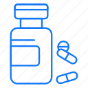 bottle, capsule, medical, tablets icon