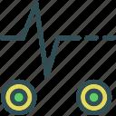 ekgadjustment, heartbeat, signal icon