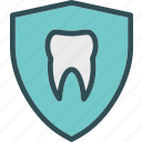 dentist, doctor, medic, shieldtooth icon