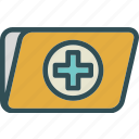 folder, health, medical icon