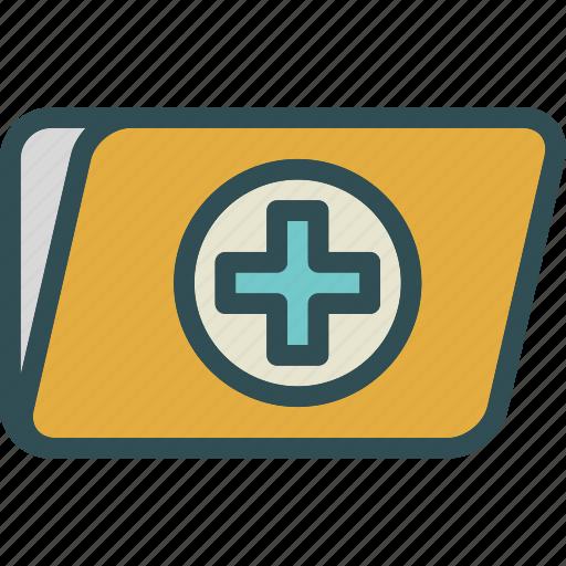 folder, health, medical icon