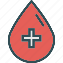 blood, crossdroplet, health, medical icon
