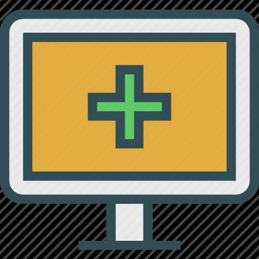 crossmonitor, display, health, medical, stats icon