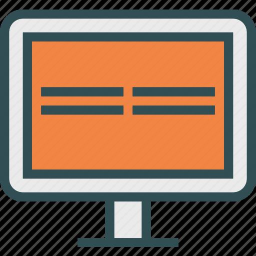 display, monitor, stats icon