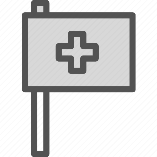 crossflag, health, medical icon