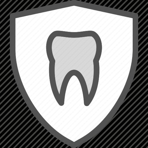 dentist, doctor, medic, shieldtooth icon