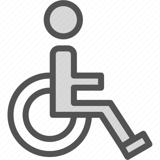 chairsign, imobilized, invalid, wheel icon