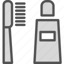brushpaste, dentist, doctor, medic, tooth icon